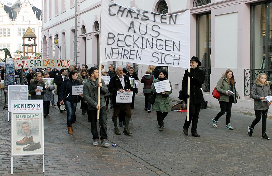 Durch die Sternstraße zum Bischofssitz - der Potestzug der Beckinger gegen Bischof Ackermann.