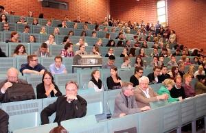 Das Interesse am Projekt RLC war groß am Dienstag auf den Uni. Foto: RLC