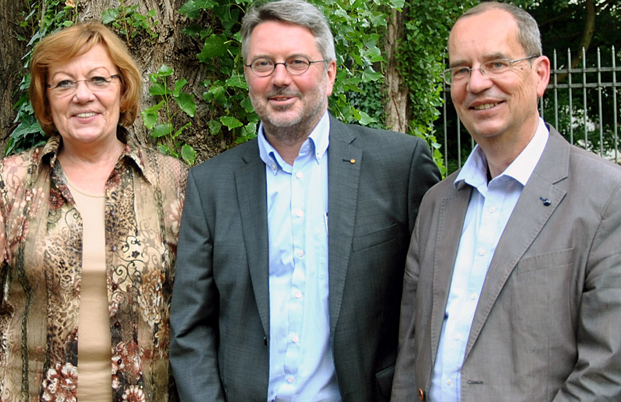 Udo Köhler (Bildmitte) mit seinen beiden Stellvertretern Birgit Falk und Thomas Albrecht. Foto: CDU Trier