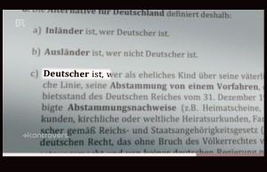 """Antrag auf """"Arier-Nachweis"""" laut BR-Recherchen. Quelle: Bayerischer Rundfunk"""