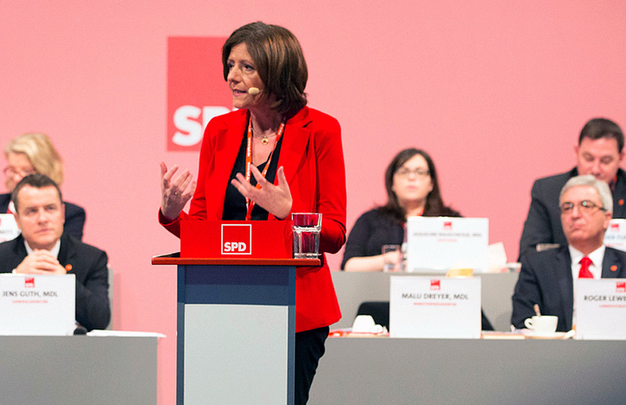 Es bleibt beim Nein: Malu Dreyer will sich nicht zusammen mit AfD-Vertretern in ein Fernsehstudio setzen. Foto: SPD Rheinland-Pfalz