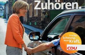 Doppeldeutig wie meist bei Julia Klöckner: CDU-Plakat zur Landtagswahl.