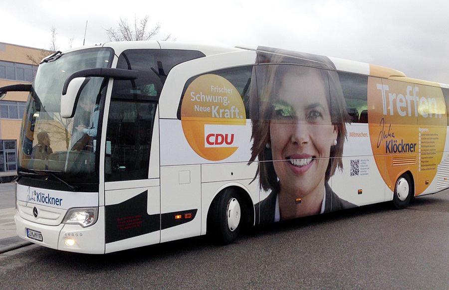 Protzig. Die Maxime des Systems Klöckner lautet: Kult um die eigene Person. Foto: Twitter/CDU Rheinland-Pfalz