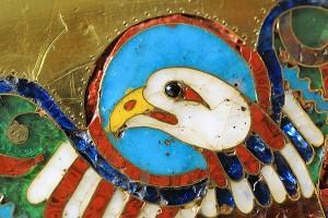 Adler als Evangelistensymbol des Johannes, Detail des Andreas-Tragaltares, 10. Jahrhundert. Foto: Rita Heyen