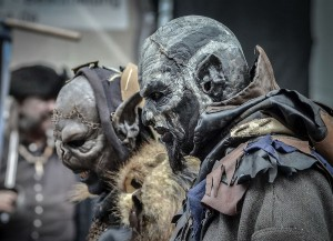 Furchterrregende Gestalten aus dem Mittelalter: Zwei Orks. Foto: Veranstalter