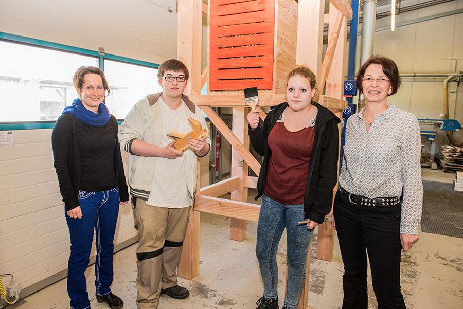Sie engagieren sich gemeinsam: Monika Berger, Dominik Flesch, Sharin Petry und Andrea Steyven (von links) Foto: Rolf Lorig