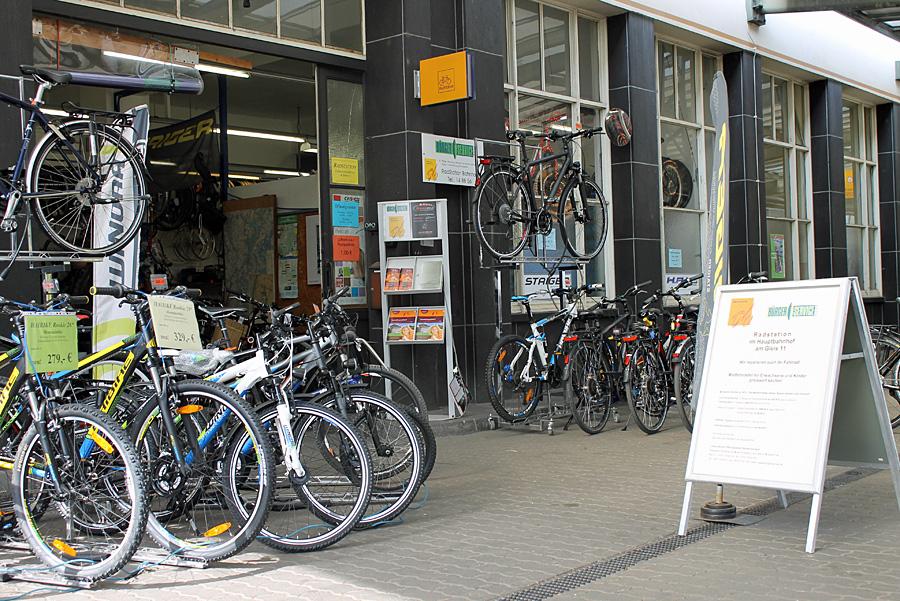 Am Trierer Hauptbahnhof betreibt der BÜS eine Fahrradstation.