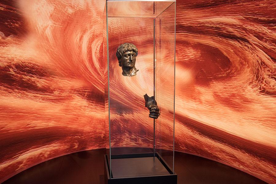 Neros Untergang - zu sehen im Rheinischen Landesmuseum. Fotos: Rolf Lorig