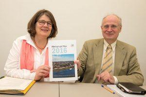 Angelika Birk und Michael Clar präsentieren den neuen Mietspiegel