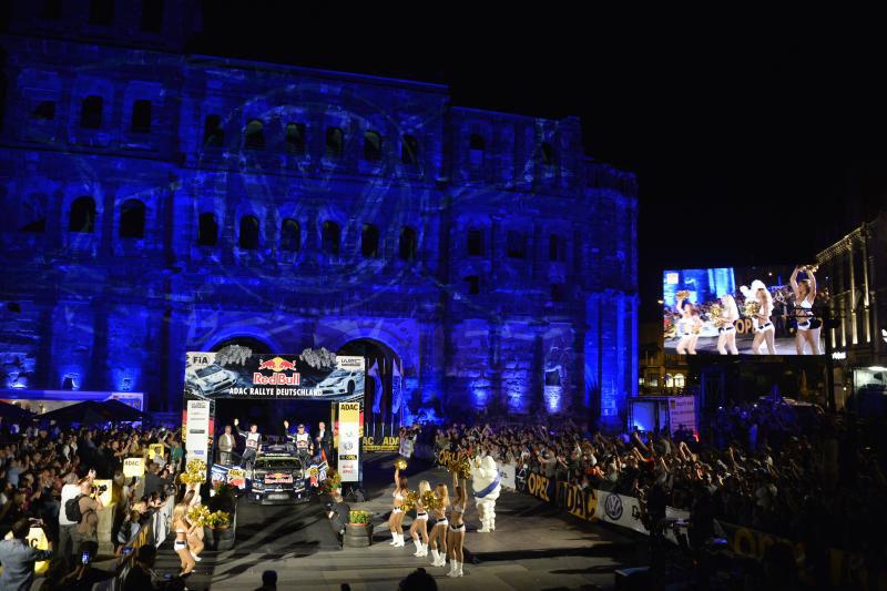 Noch einmal wird es in diesem Jahr den Showstart vor der Porta Nigra geben. Foto: ADAC.