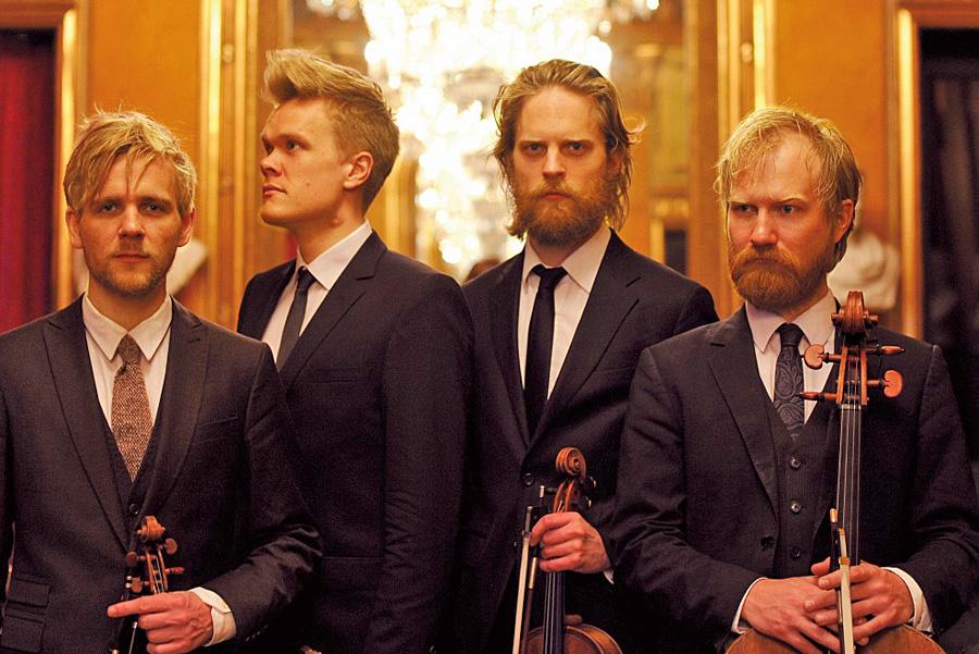 Das Danish String Quartet spielt am 4. September im Barocksaal des Klosters Machern. Foto: Caroline Bittencourt