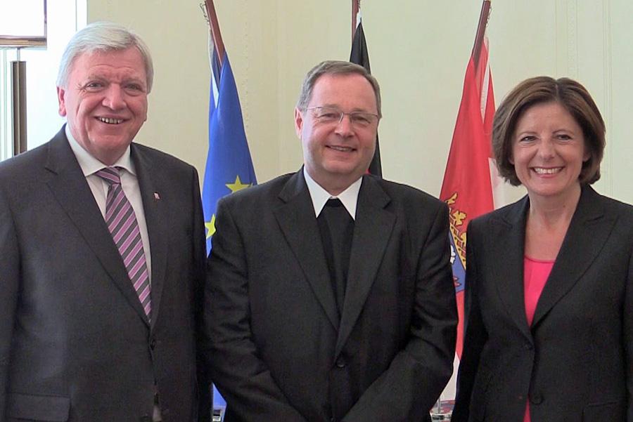 Volker Bouffier, Georg Bätzing und Malu Dreyer am Mittwoch in Wiesbaden. Foto: Hessische Staatskanzlei