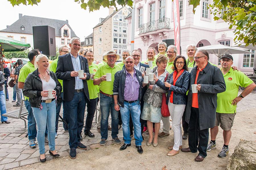 Vor zwei Jahren war Wolfram Leibe noch als OB-Kandidat zu Gast. In diesem Jahr wird er als Oberbürgermeister das Fest mit eröffnen. Foto: Rolf Lorig