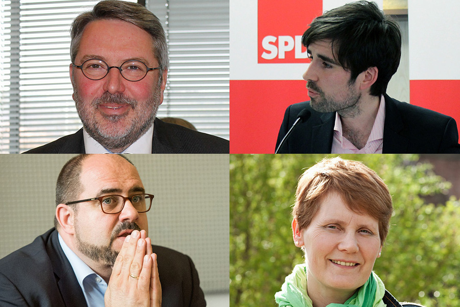 Die Trierer Fraktionen sind nun gefragt - in der politischen, aber auch juristischen Aufarbeitung, etwa zur Zukunft von Thomas Egger (unten links). Collage: tr
