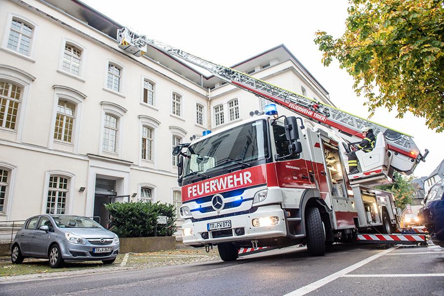 Die Brandstiftung im Trierer Jugendamt war offenbar eine spontane Tat. Foto: Rolf Lorig