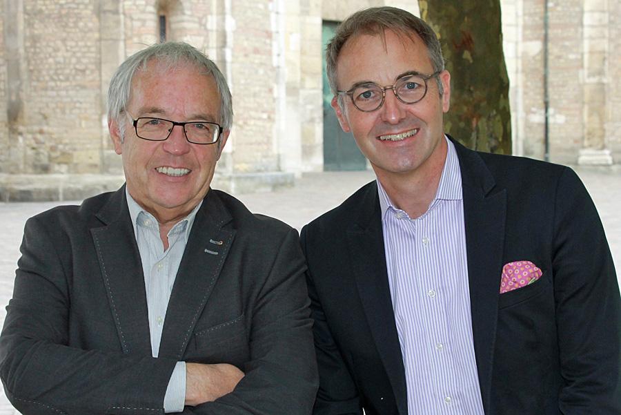Hermann Lewen und Tobias Scharfenberger vermissen die Wertschätzung ihres Festivals durch die Trierer Politik.