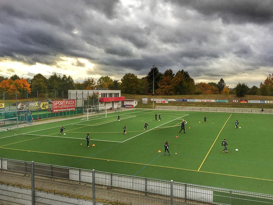 Bei Fußballspielern sind Kunstrasenplätze wie hier beim FSV Tarforst beliebt. Fotos: Rolf Lorig
