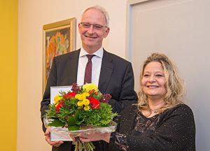 OB Leibe mit Tanja Wilke-Oberbillig.