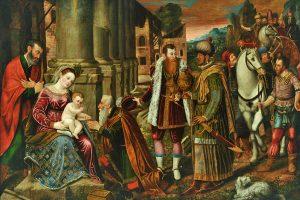 Venezianischer Meister, Die Anbetung der Könige, 17. Jahrhundert. Foto: Stadtmuseum Simeonstift