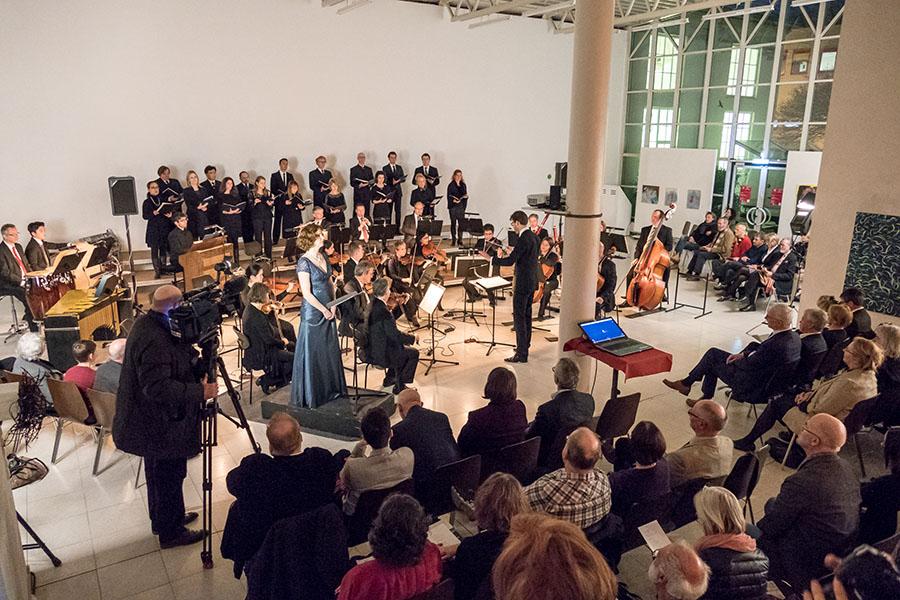 Mit einem festlichen Konzert wurde am Samstag die Veranstaltungsreihe zum 40. Geburtstag der Internationalen Kunstakademie eröffnet.. Fotos: Rolf Lorig