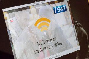 Oberfläche des SWT City Wlan