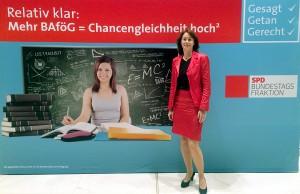 Katarina Barley (SPD) stimmte für die Bafög-Erhöhung im Bundestag.