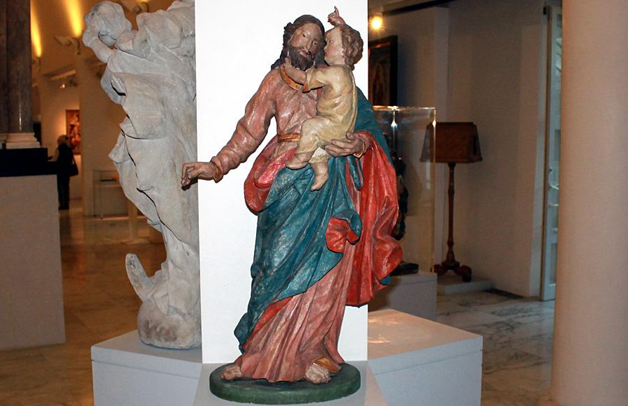 Josef mit dem Jesus-Kind - Skulptur aus dem 16. Jahrhundert.