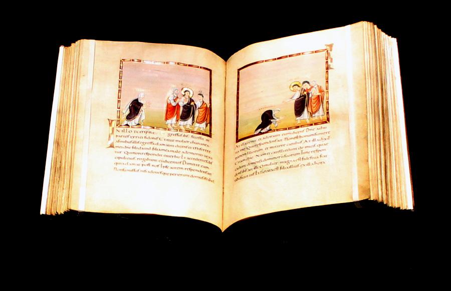 Der weltberühmte Codex Egberti, dessen Wert zwischen 30 und 50 Millionen Euro geschätzt wird.