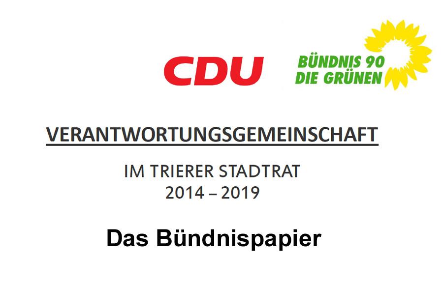 Das Bündnispapier von CDU und Grünen.