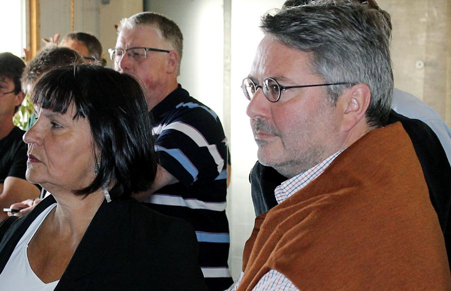 Die Dezernentin und der Parteivize - Simone Kaes-Torchiani und Udo Köhler. Die noch amtierende Beigeordnete hat in der CDU-Fraktion nach wie vor viele Freunde, wie die Probeabstimmung am Samstagabend zeigte.
