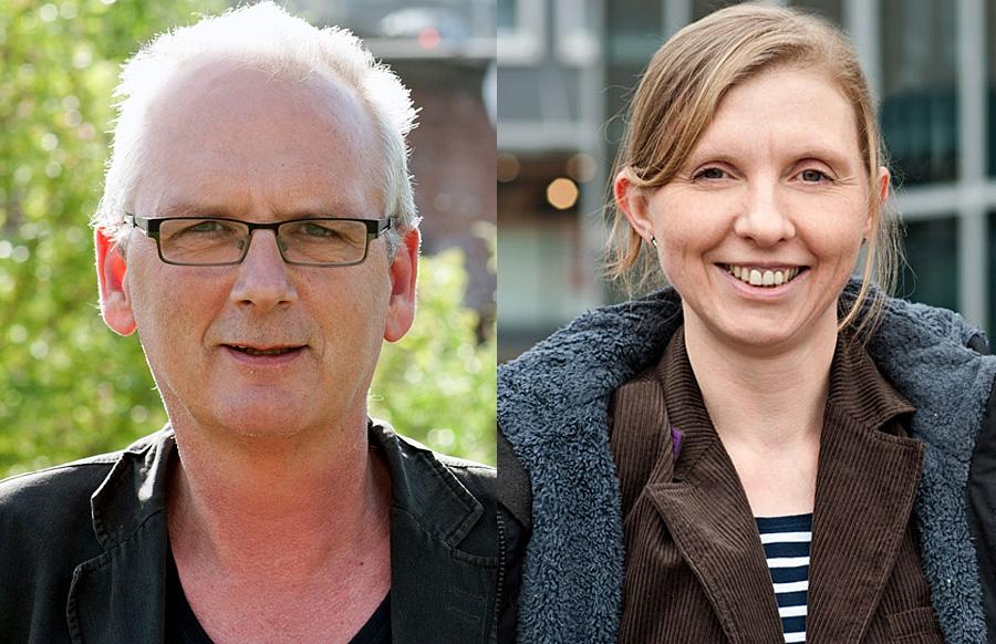 Grüne Architekten im schwarzen Haus: Reiner Marz und Corinna Rüffer. Fotos: Grüne