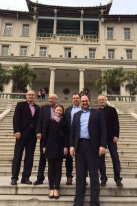 Die Trierer Delegation mit Dezernent Thomas Egger in Xiamen. Foto: Presseamt Stadt Trier