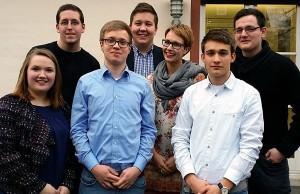 Der neue Vorstand der Jungen Union im Bezirk Mitte. Foto: JU