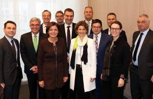 Treffen mit dem Vorstand der DB Schenker Rail AG in der Staatskanzlei Rheinland-Pfalz. Foto: Stefan Sämmer / Staatskanzlei