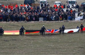 Solidarität nach dem Flugzeugabsturz in Frankreich. Foto: freepress