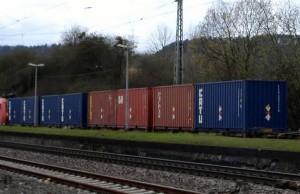 Der Zug mit dem Uran kam am 1. April um 14.35 Uhr in Schweich an. Foto: AANT