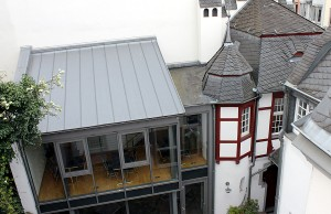 Im Kurscherhaus, dem hinteren Teil des Gebäudes, soll das Büro untergebracht werden.