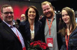 Die neue Generalin mit den drei Trierer SPD-Stadträten Andreas Schleimer (links), Markus Nöhl und Anna Gros.
