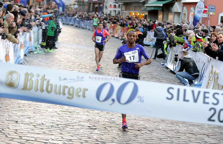 Haymanot Alew siegte überraschend im Lauf der Asse über acht Kilometer. Foto: Silvesterlauf Trier