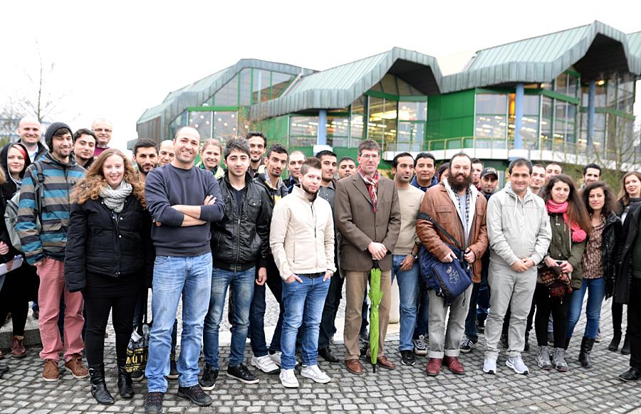 An der Universität Trier sind Flüchlinge willkommen, wie auch Präsident Jäckel betonte. Foto: Uni Trier