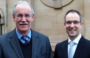 Winfried Görgen (links) und Nachfolger Thomas Theis. Foto: Bistum Trier