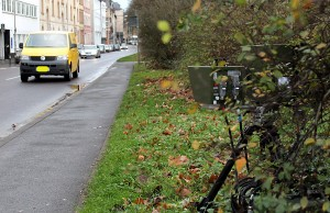 Am Donnerstag stand das Messgerät gut sichtbar in der Balduinstraße.