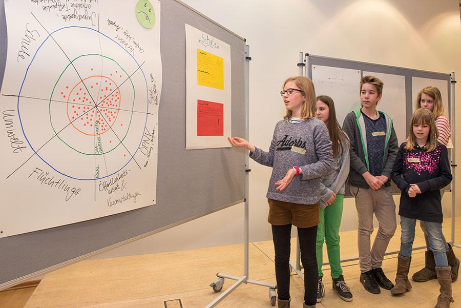 """Ruhig und selbstsicher präsentiert der Arbeitskreis """"Schulen"""" das Ergebnis seiner Überlegungen. Alle Fotos: Rolf Lorig"""