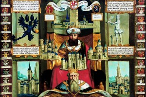 Claudius Markar, Trebeta - Der sagenhafte Gründer der Stadt Trier, Ölgemälde, 1684. Foto: Stadtmuseum Simeonstift Trier