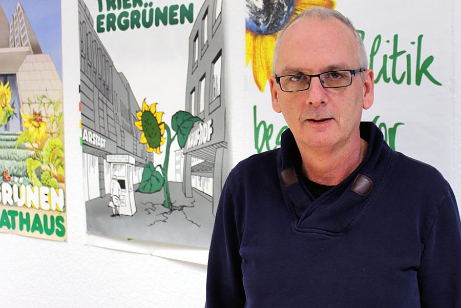 Seit 2009 sitzt Reiner Marz wieder für die Grünen im Trierer Stadtrat - ist dort stellvertretender Vorsitzender der Fraktion.