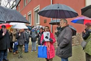Jeannette Scholzen bei ihrer Führung in Trier. Foto: Götz Feige