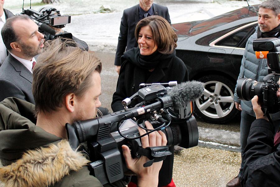 Dsa Medieninteresse am Donnerstagmorgen auf dem Petrisberg war riesig.