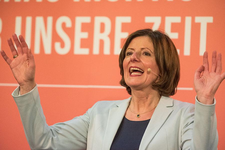 Sie hat gezeigt, wie man auch in der digitalisierten politischen Welt erfolgreich Wahlkampf macht: Malu Dreyer. Foto: Rolf Lorig
