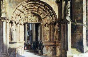 Friedrich Anton Wyttenbach, Westportal der Liebfrauenkirche, Ölgemälde, 1835. Foto: Stadtmuseum Simeonstift