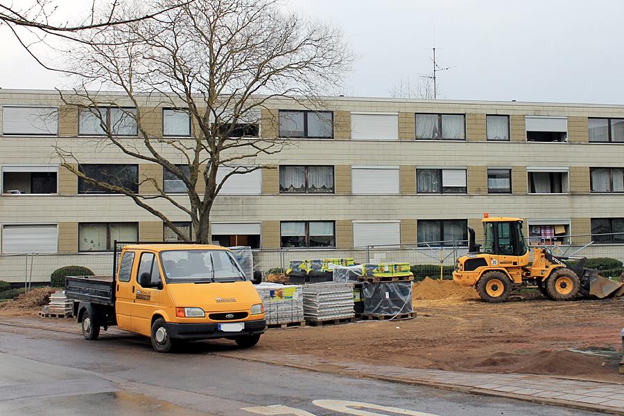 Die städtischen Wohnungen auf Mariahof, wie hier in der Lasinskystraße, werden mit einem Kostenvolumen von über sieben Millionen Euro saniert.